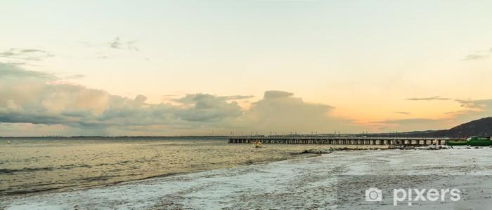 Papier peint vinyle Mer Baltique Gdynia, jetée dans Orlowo Pologne. Hiver paysage - Saisons
