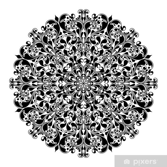 Ornamental round pattern Pixerstick Sticker - Wall decals