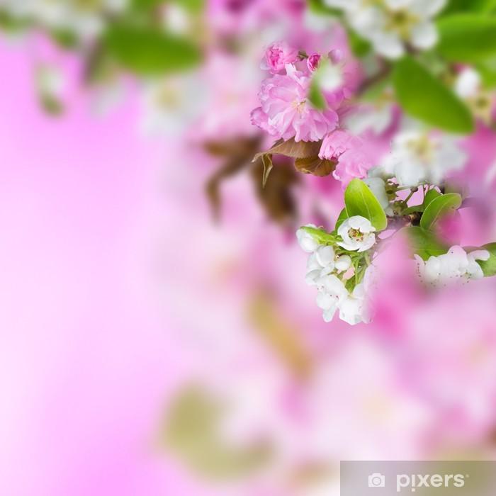 Naklejka Pixerstick Wiosennych kwiatów w tle - Fikcyjne zwierzęta