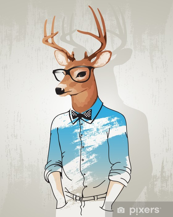 Hipster Deer Sticker Pixers We Live To Change