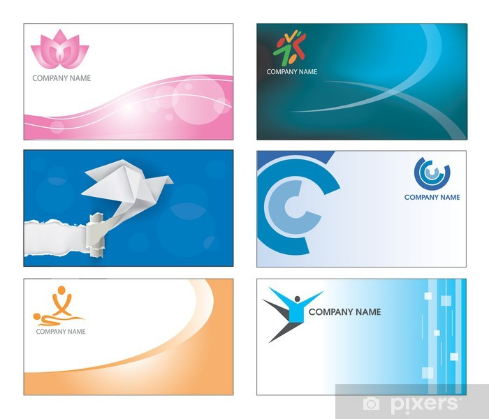 Aufkleber Visitenkarte Template Design Pixerstick
