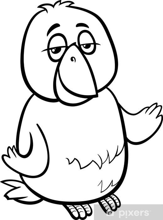 Kanarya Kuş Karikatür Boyama çıkartması Pixerstick Pixers Haydi