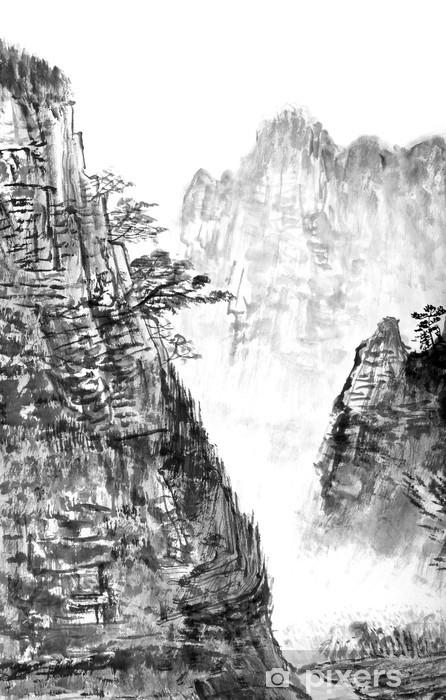 Fototapeta winylowa Tradycyjny chiński malarstwo, krajobraz - Góry
