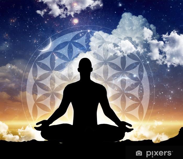 Vinilo Pixerstick La meditación de la mañana-noche - Salud