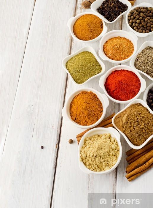 Papier peint vinyle Powder spices - Epices, herbes et condiments