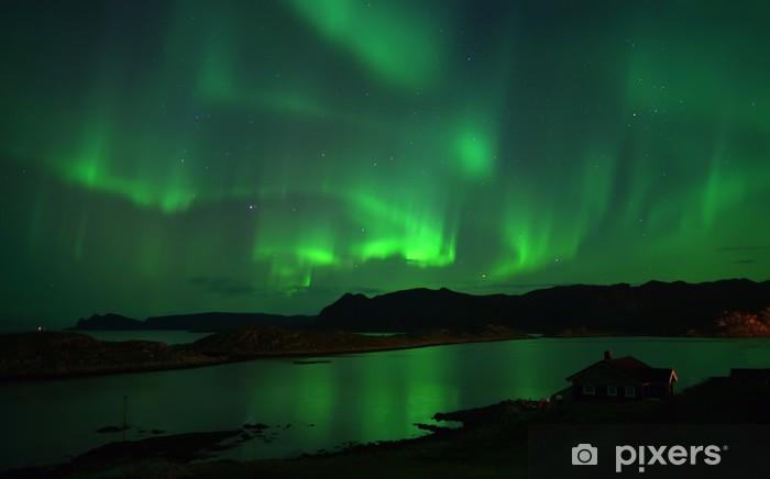 Fototapeta winylowa Zorza polarna nad Northcape. 08 października 2013 - Tematy