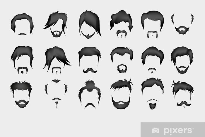 Naklejka Pixerstick Włosy, wąsy, broda - Tła