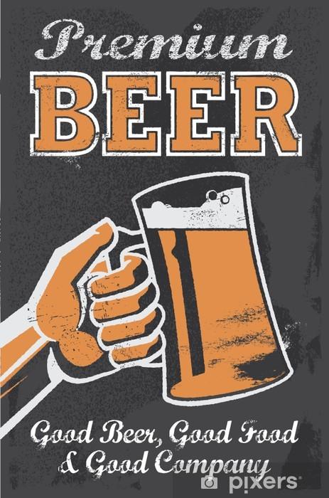 Fototapeta winylowa Plakat browar piwo rocznik - Tablica znak wektora - Style
