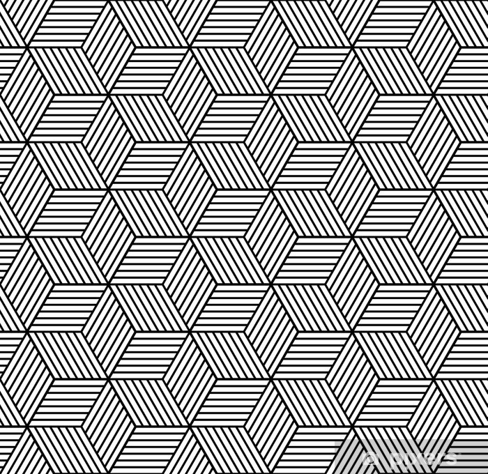 Póster Patrón geométrico transparente con cubos. - Recursos gráficos
