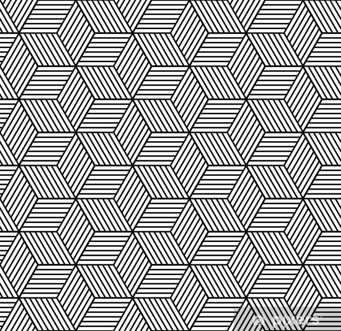 Pixerstick Sticker Naadloze geometrische patroon met blokjes. - Grafische Bronnen