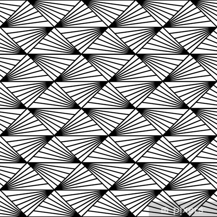 Vinilo Pixerstick Patrón geométrico sin fisuras con los triángulos y líneas - Temas