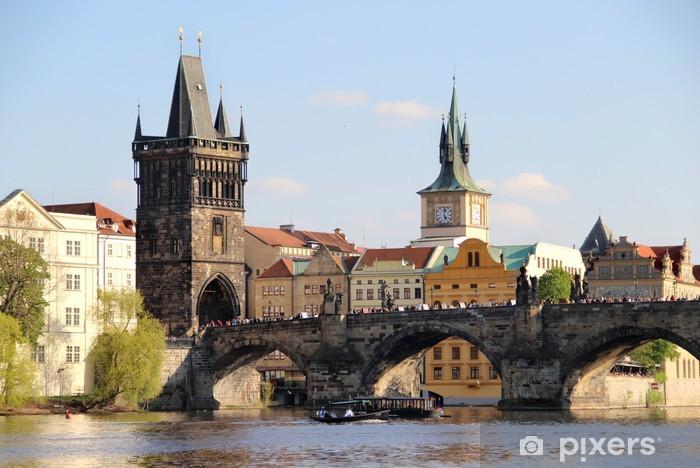 Sticker Pixerstick Pont Charles, Prague, République tchèque - Europe