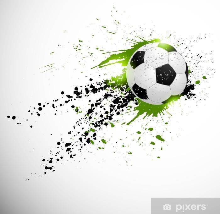 Flying soccer ball Vinyl Wall Mural - Themes