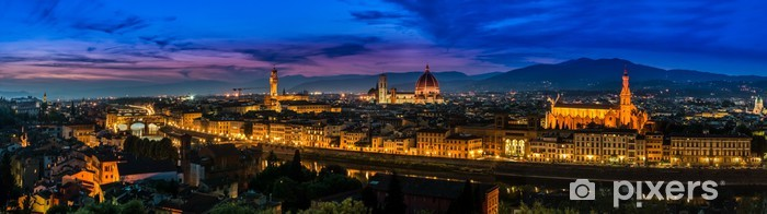 Vinyl-Fototapete Florenz, Italien - Skyline in der Dämmerung - Europa