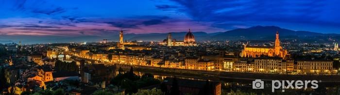 Naklejka Pixerstick Florencja, Włochy - skyline o zmierzchu - Europa
