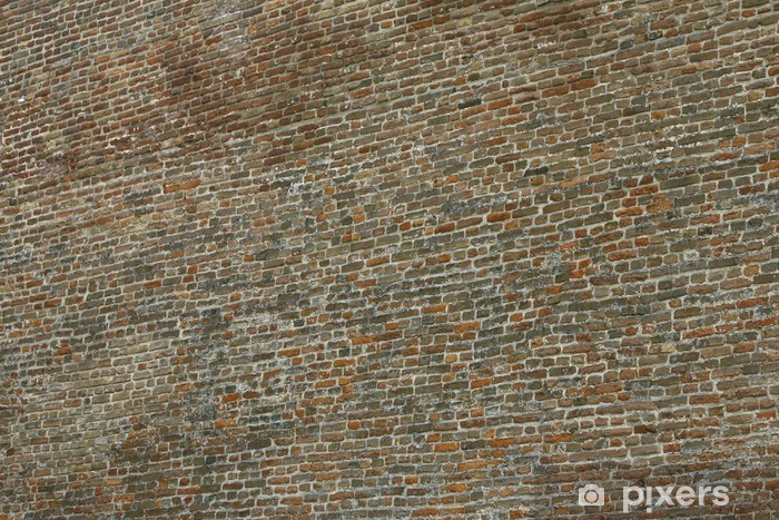 Papier peint vinyle Vieux mur de briques dans une image de fond - Industrie lourde
