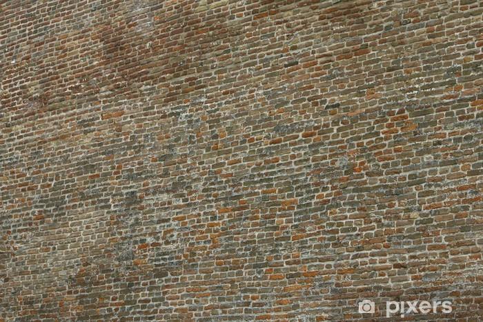 Sticker Pixerstick Vieux mur de briques dans une image de fond - Industrie lourde