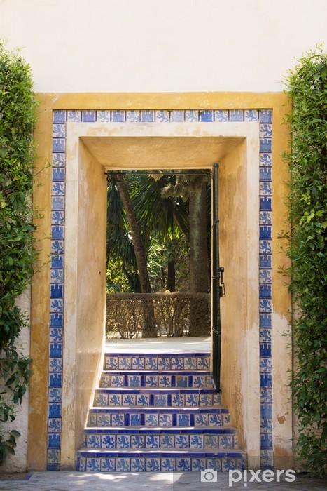 Nálepka Pixerstick Doorway v zahradě - Památky