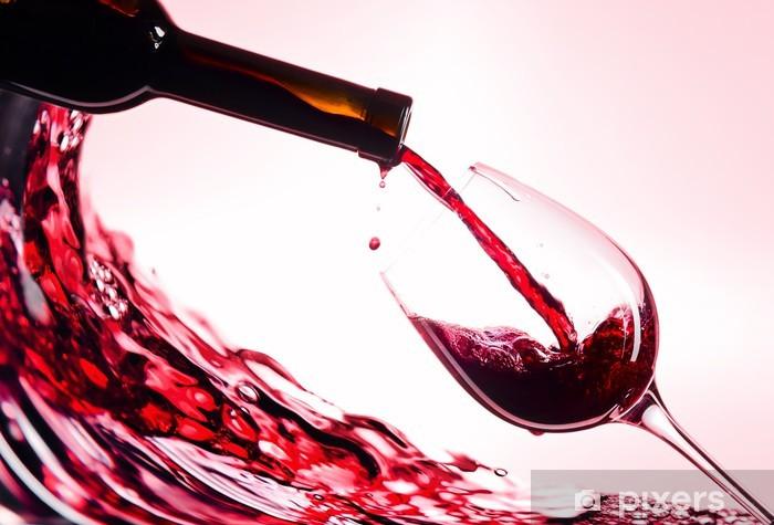 Papier peint vinyle Vin rouge - Vin