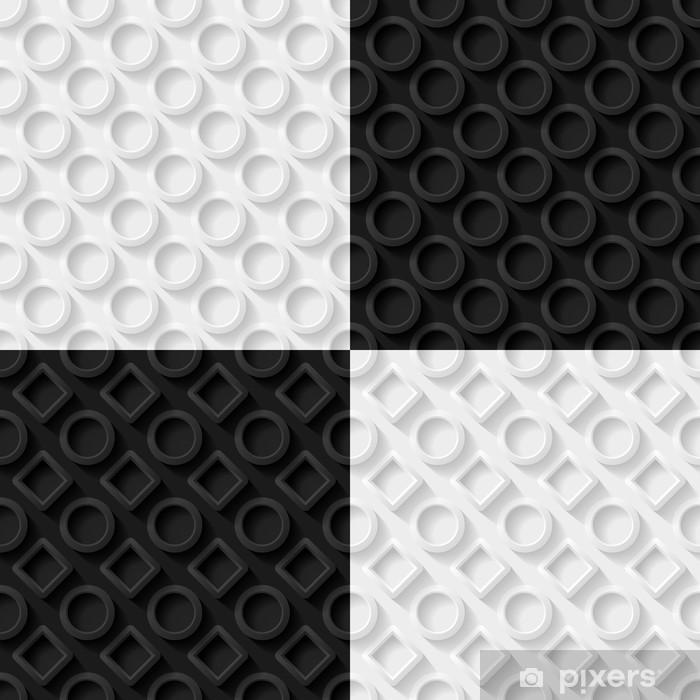 Papier peint vinyle Seamless fond abstrait géométrique - Arrière plans