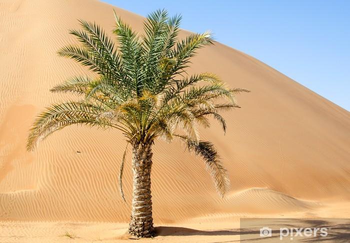 Palm Tree In Desert Liwa Dunes Wall Mural Pixers 174 We