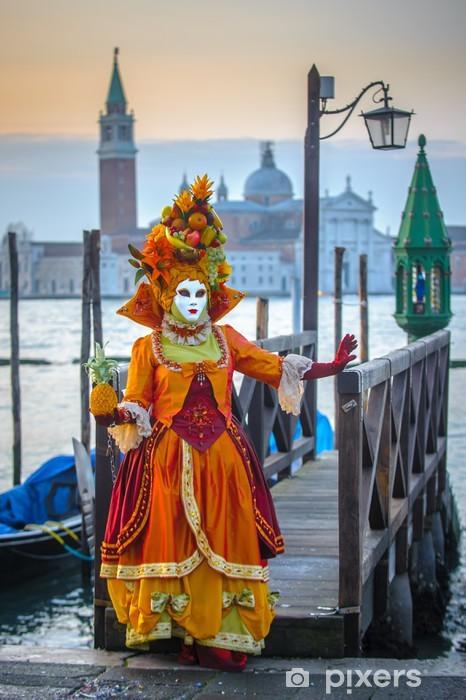Sticker Pixerstick Masques vénitiens de carnaval - Villes européennes
