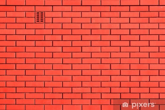 Fototapeta winylowa Mur ceglany czerwony pomarańczowy tła, XXXL - Przemysł ciężki