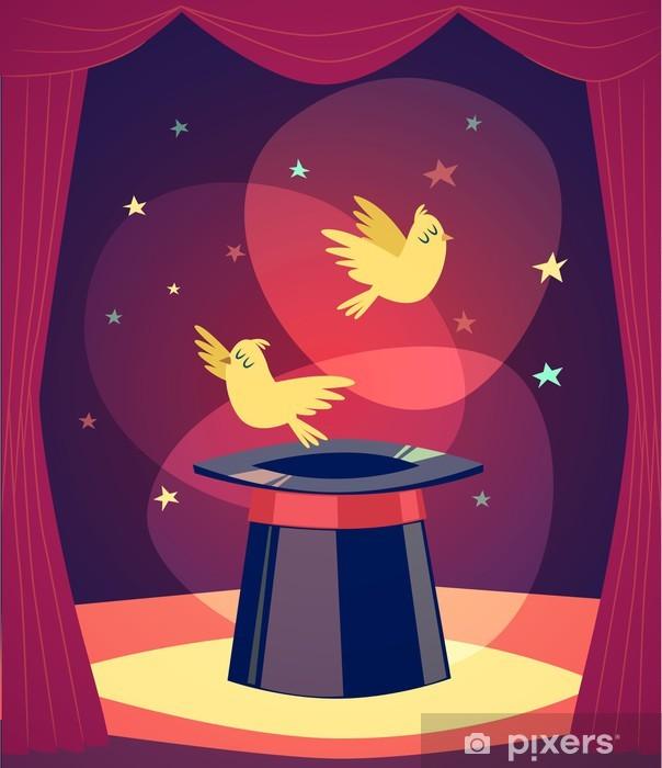 Sticker Pixerstick Trick avec des oiseaux. Vector illustration. - Divertissements
