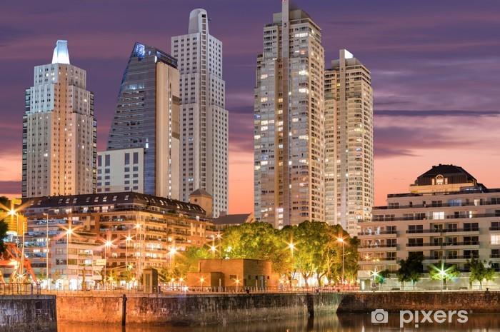 Fototapet av Vinyl Buenos Aires stadsbild, huvudstad i Argentina - Stad