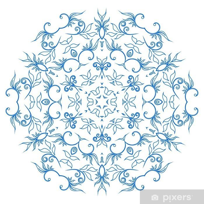 Plakat Abstrakcyjne koła ornament, wzór. - Tła