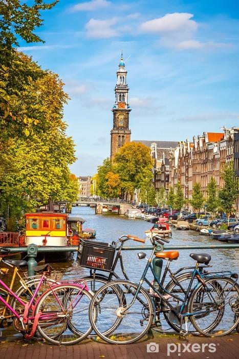 Fotomural Estándar Canal de Prinsengracht en Amsterdam - Temas