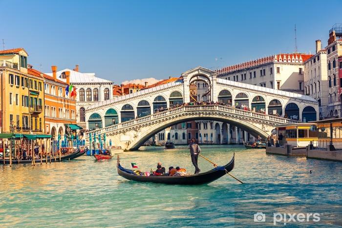 Pixerstick Aufkleber Rialto-Brücke in Venedig. - Themen