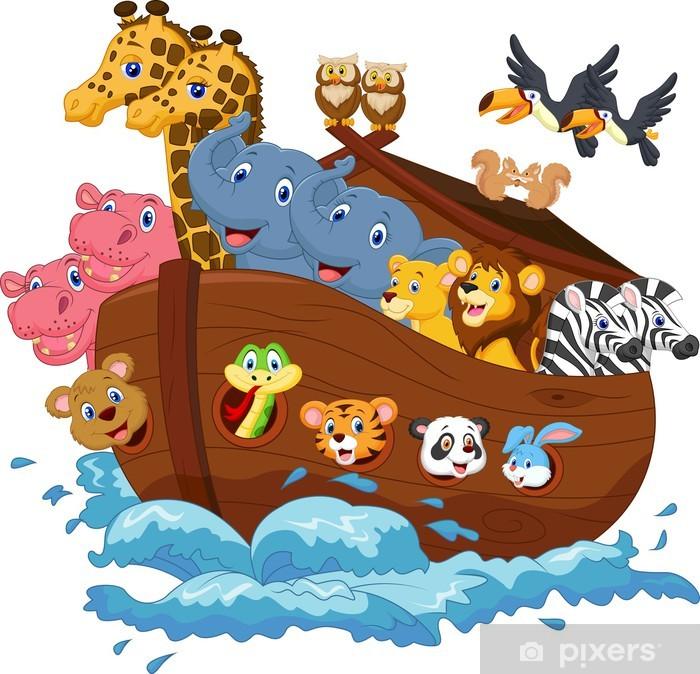 Fototapeta winylowa Cartoon Noego Arka. - Dla przedszkolaka