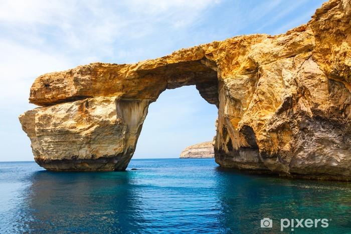 Azure Window, stone arch of Gozo, Malta Pixerstick Sticker - Europe