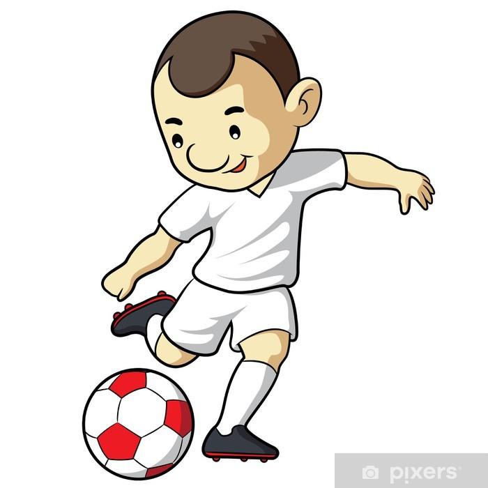 df8066e6 Fototapet Fotball Kid Cartoon • Pixers® - Vi lever for forandring