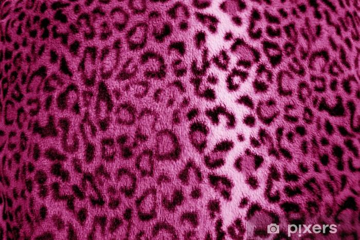 69a0dc6d0a0b85 Fototapeta winylowa Różowy / fioletowy futro lamparta druku wzór - tkanina  - Tekstury