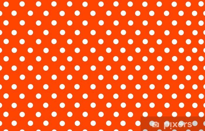 Carta Da Parati Il Pois Bianco Con Sfondo Arancione Rosso Pixers