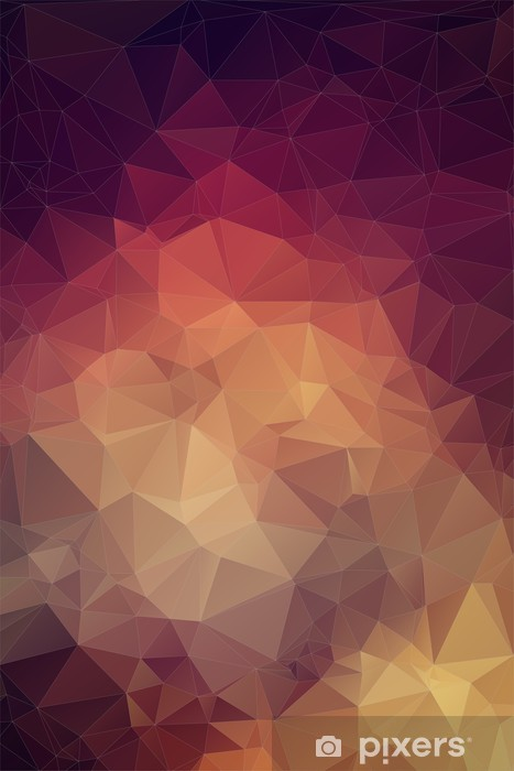 Fotomural Estándar Retro patrón de formas geométricas -