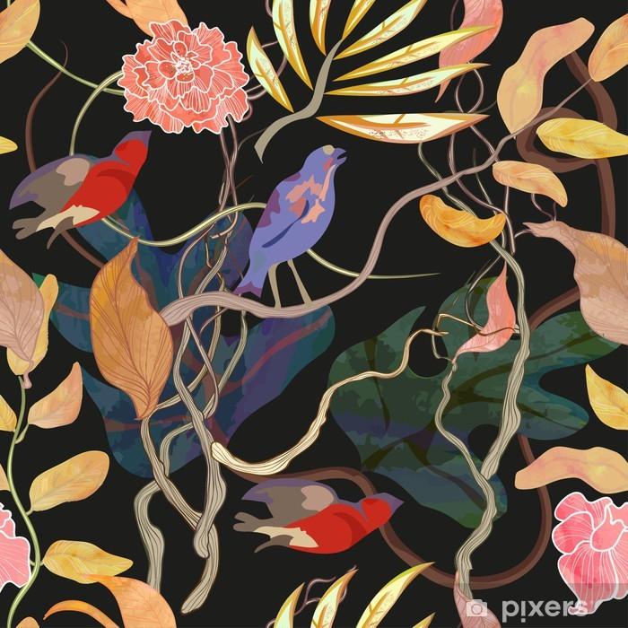 Zelfklevend Fotobehang Trendy naadloze patroon met de haven thema - Tijd
