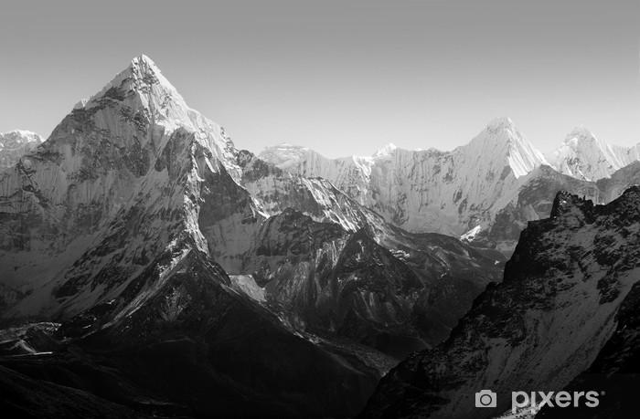 Sticker Pixerstick Himalaya Montagnes Noir et Blanc - Styles