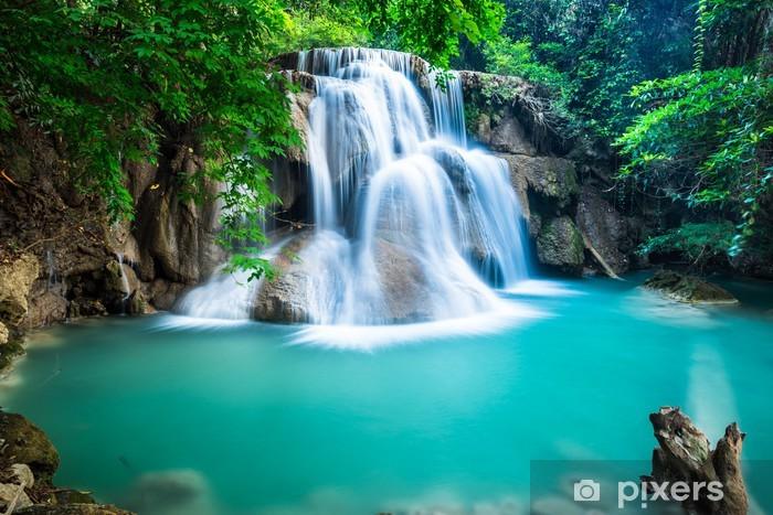 Fotomural Estándar Huay Mae Kamin cascada en la provincia de Kanchanaburi, Tailandia - Temas