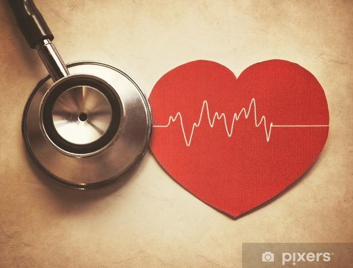Papier peint vinyle Coeur et un stéthoscope - Santé et médecine
