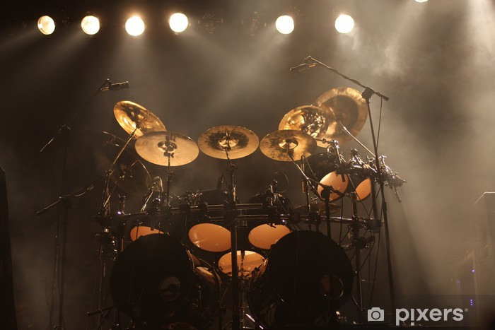 Set of drums on stage Vinyl Wall Mural - Entertainment