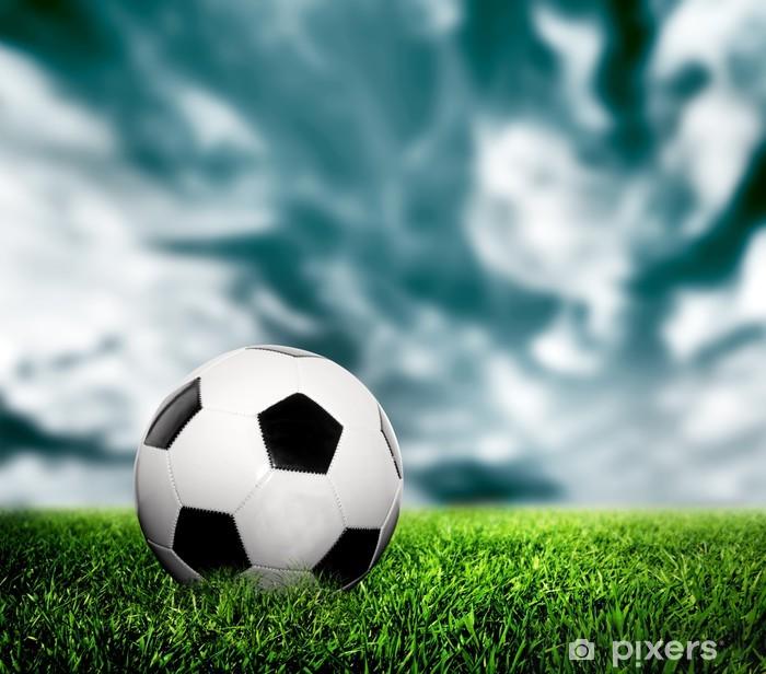 Papier Peint Football Soccer Une Boule De Cuir Sur L Herbe