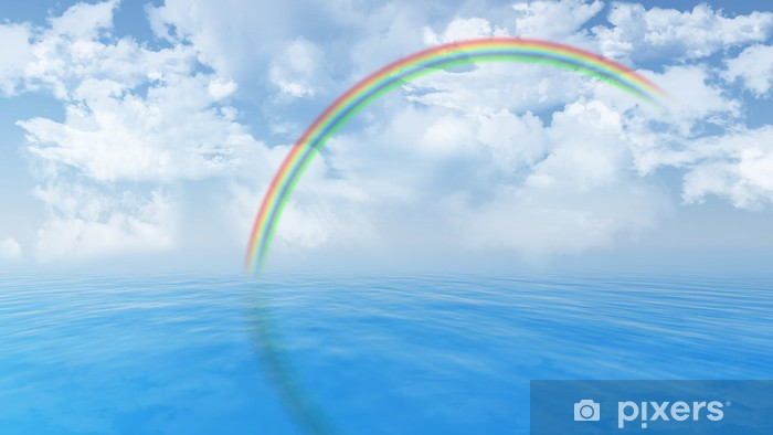 Vinylová fototapeta Modrý oceán krajina s duhou - Vinylová fototapeta