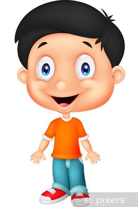 Cute Boy Cartoon Posing Sticker Pixers We Live To Change