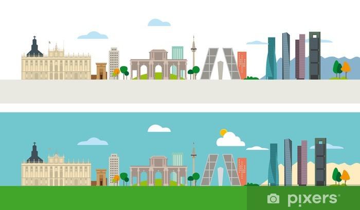 Madrid Skyline Pixerstick Sticker - European Cities