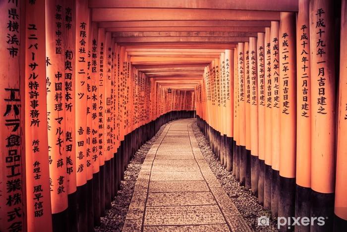 Papier peint vinyle Leader ligne aux portes de Kyoto - Asie