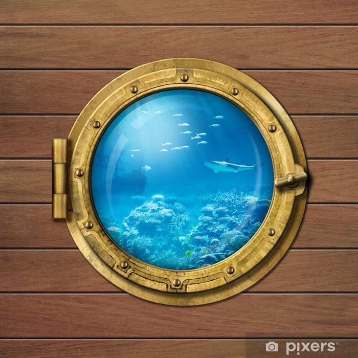 bathyscaphe or submarine porthole underwater Poster - Boats
