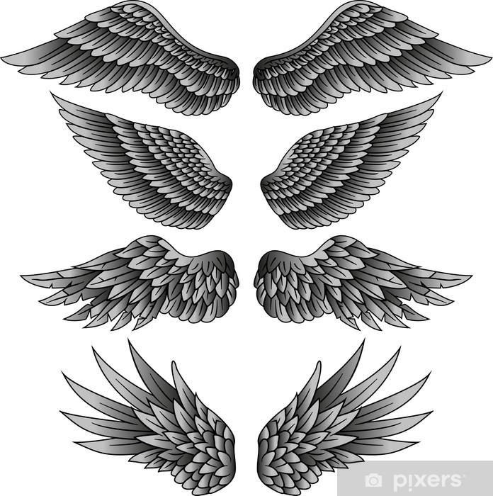 Wings Tattoo Wall Mural Vinyl